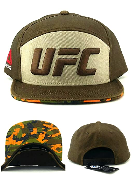 be0747d3 Amazon.com : Reebok UFC RBK MMA Fighter 5 Panel Brown Tan Camouflage ...