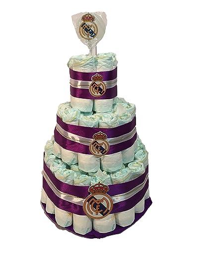 Tarta de pañales DODOT Real Madrid piruleta: Amazon.es: Bebé
