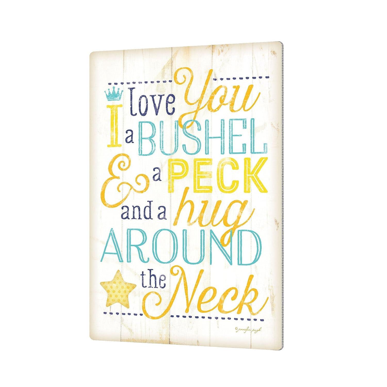 Aluminum Print 24X36 ArtWall Jennifer Pughs I Love You A Bushel and A Peck