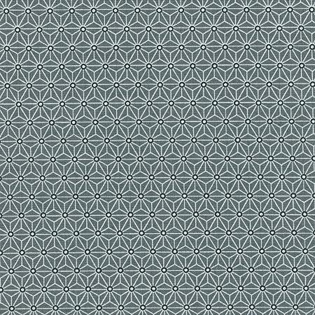 Tela de algodón estampada - Asanoha - Tela Japonesa - blanco y ...