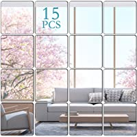 KimDaro Removable Acrylic Mirror Setting Wall Sticker Decal DIY Modern Decoration for Home Living Room Bedroom Decor (15…
