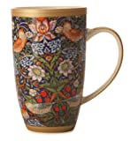 Maxwell & Williams 420 ml Porcelain William Morris Strawberry Thief Coupe Mug, Blue