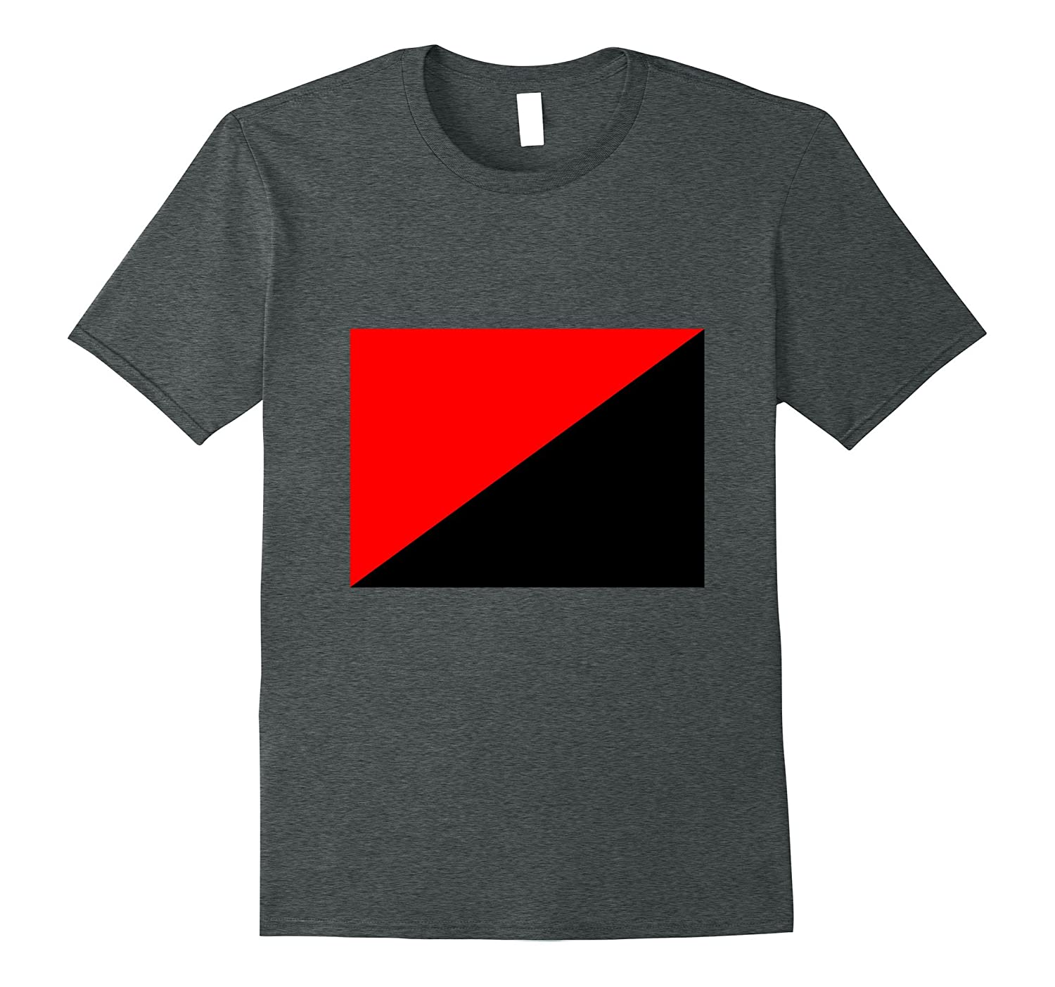 Anarcho-Syndicalism Red and Black Flag T-Shirt-CD