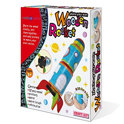 Amazon Sadocrafts Paint Your Own Rocket Fun Interactive Diy