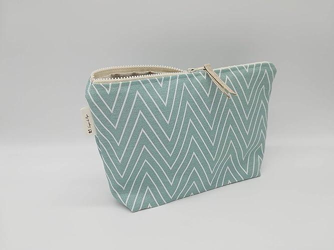 Bolsa verde, bolso, bolsa de cosméticos, interior ...