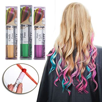 Amazon.com: Professional Waxy Hair Chalk Pens Hair Chalk Salon ...