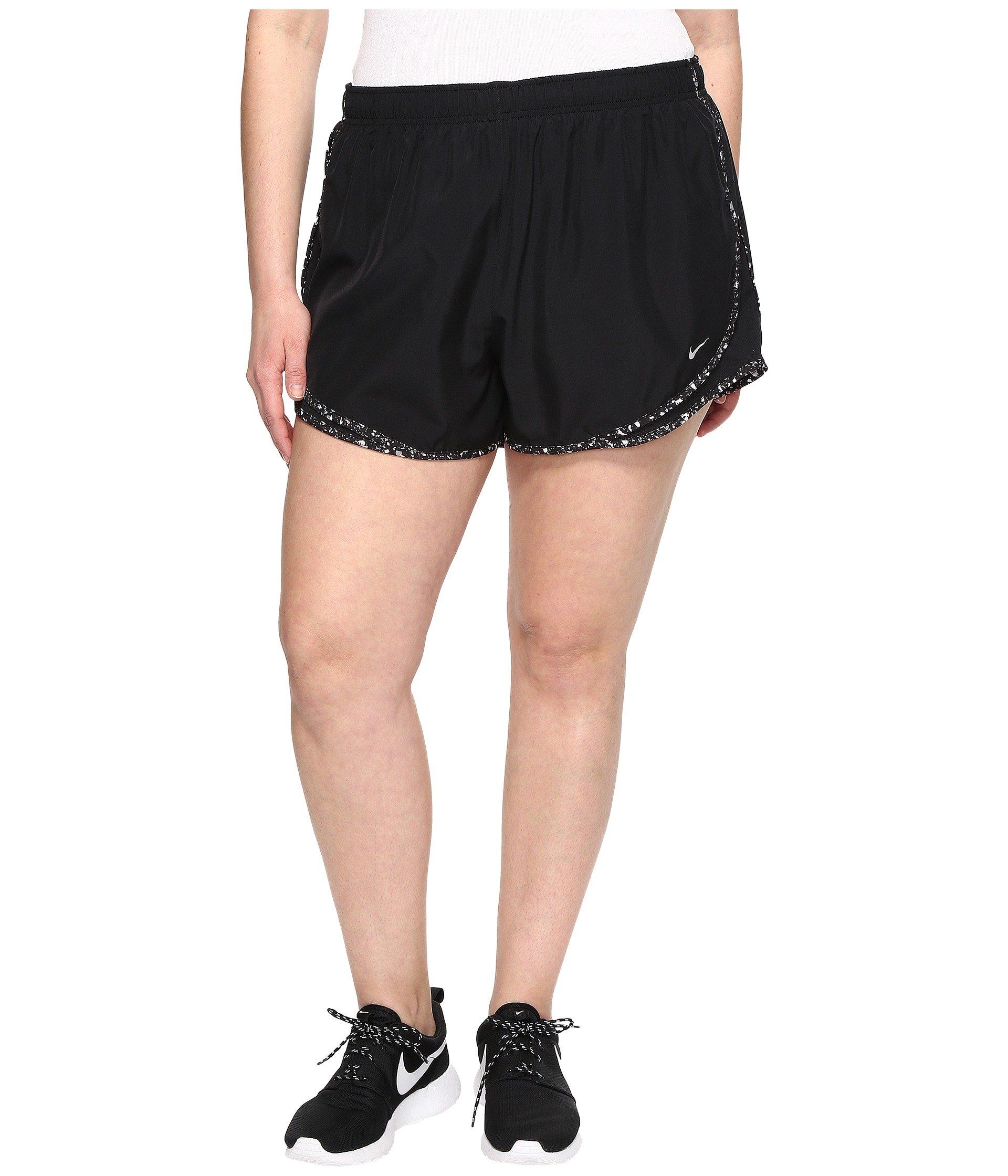 059f106cba4 Galleon - NIKE Women s 3   Plus Size Dry Tempo Running Shorts (Black  Wolf Grey