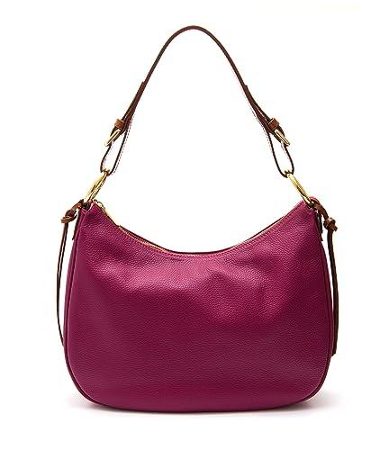 3507bf60e3b21c Peony & Moore Evie Pink leather handbag: Amazon.co.uk: Shoes & Bags