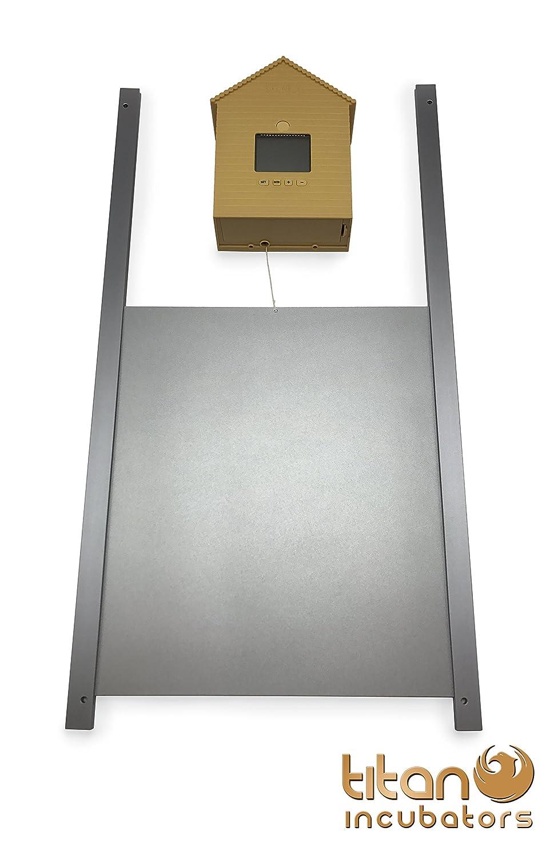 metallt r automatische huhn haus t r ffnen schlie en. Black Bedroom Furniture Sets. Home Design Ideas