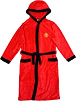 Boys Official Man Utd MANCHESTER UNITED MUFC Hooded Fleece Dressing Gown sizes from 3 to 12 Years