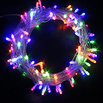 PMS 200 LED Improved Design with Timer 8 Modes String Fairy Lights Clear  Cable Battery Power Operated Waterproof Indoor & Outdoor for Christmas Tree