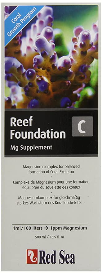 Mar Rojo Pescado Pharm are22033 Reef Base supplement-c de magnesio para Acuario, 500