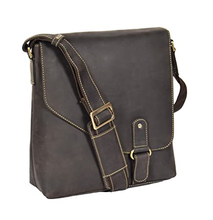 Review Mens REAL Leather Shoulder
