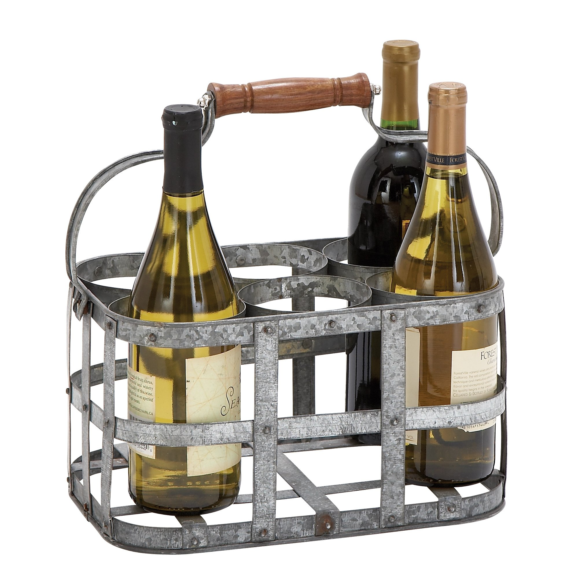 Deco 79 New Metal Wine Holder, 13 by 7-Inch by Deco 79