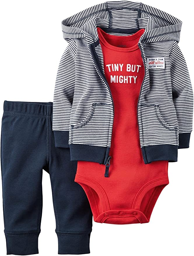 Carter/'s NWT 6M Infant Boy 3Pc MOMMYS DRAFT PICK Bodysuit Short Set $26