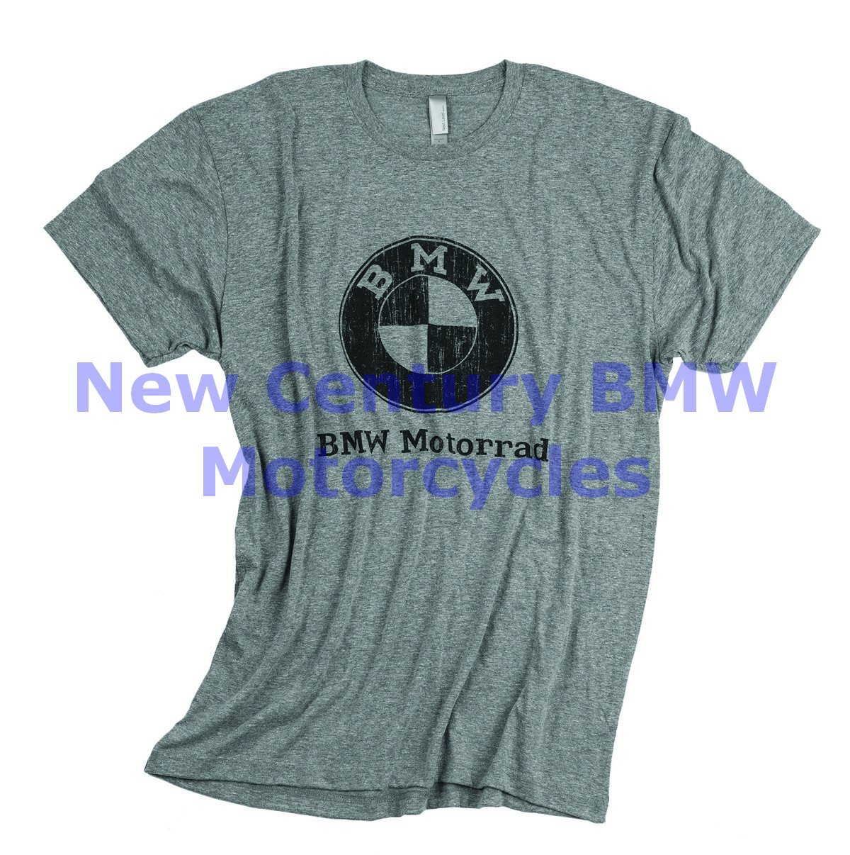 BMW Genuine Motorcycle Men Vintage Distressed T-Shirt Tee Shirt Heather Grey XXL by BMW