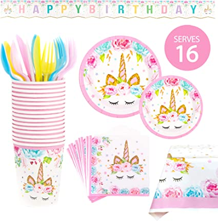 Amazon.com: BleuZoo Unicorn Party Supplies – Juego de ...