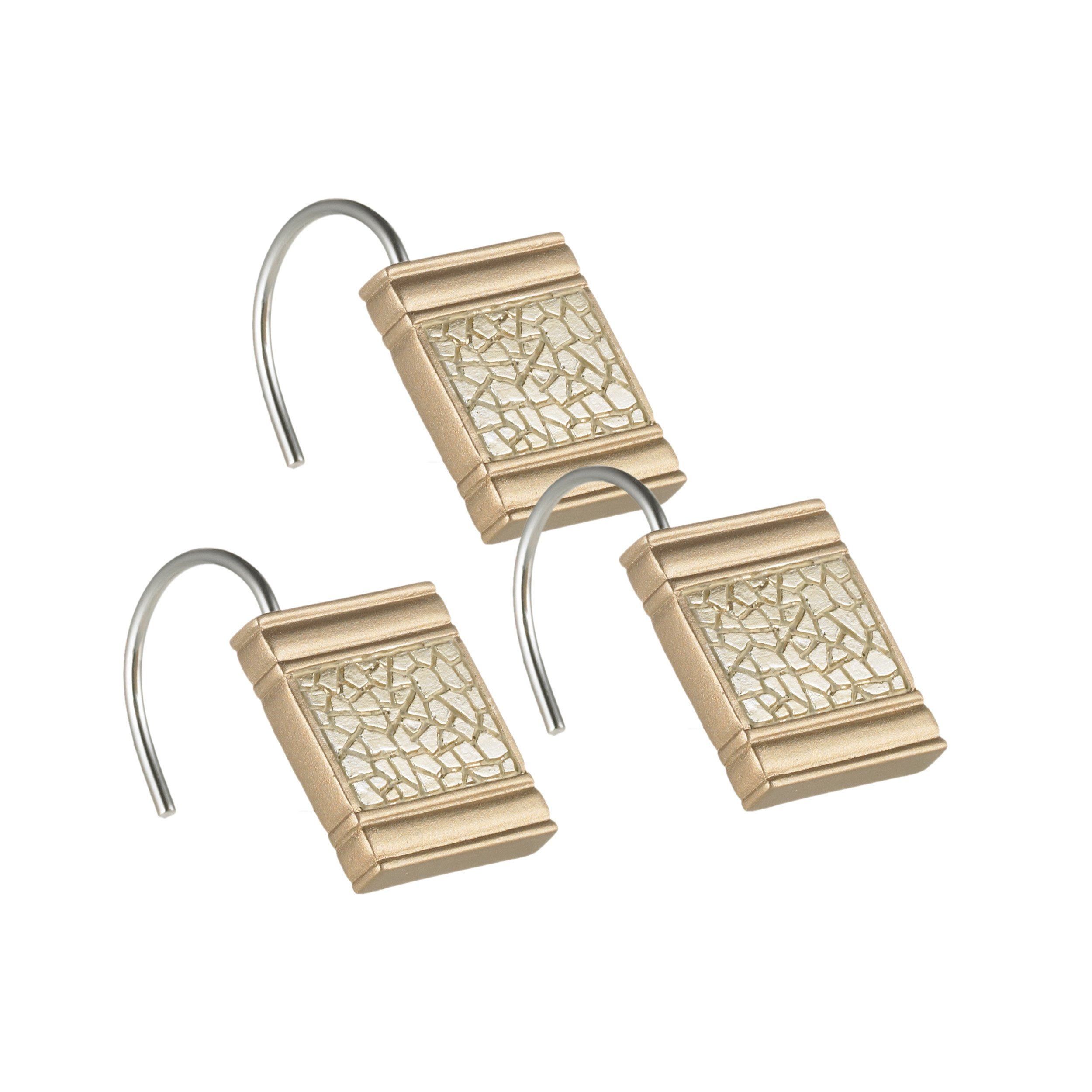 Popular Bath 839258 Sinatra Shower Hooks, Champagne Gold