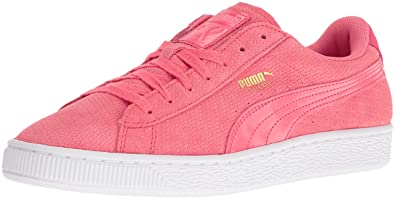 PUMA Women's Suede Remaster Emboss Wn's Fashion Sneaker, Porcelain Rose, ...