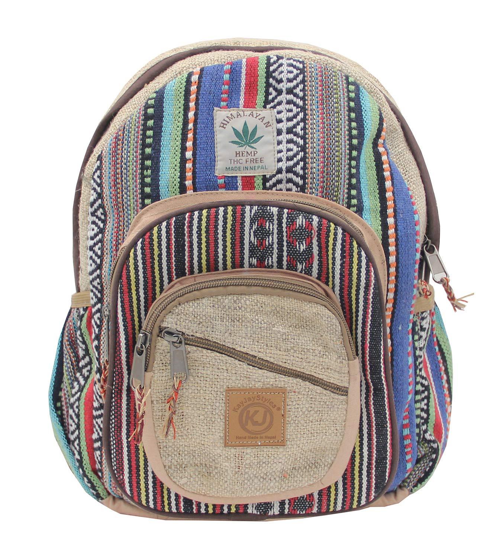 3e97da5c29a687 Amazon.com   KayJayStyles Handmade Natural Hemp Nepal Backpack Purse for  Women & Girls Small Lightweight Daypack (DAYPACK1)   Backpacks