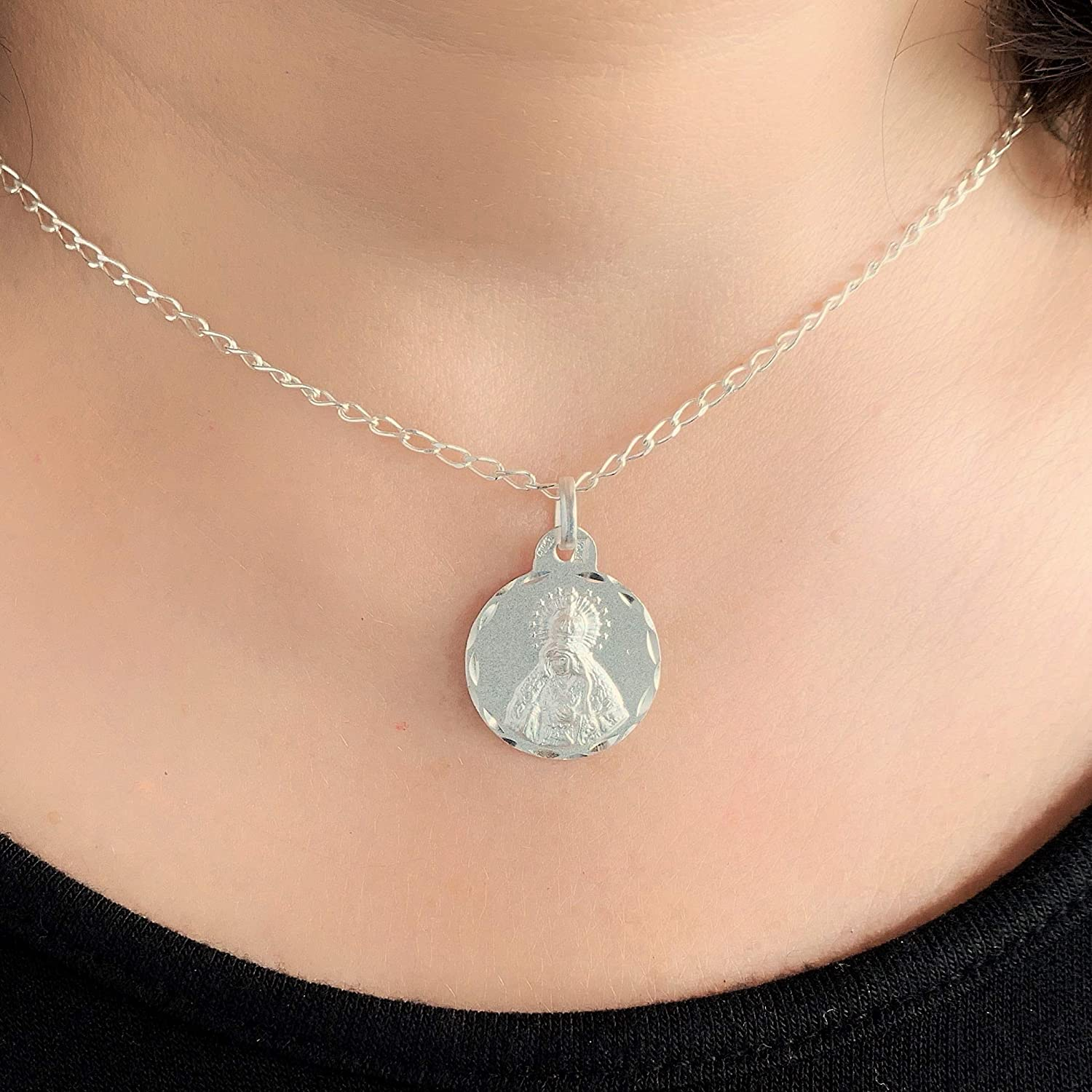 Hand-crafted sterling silver pendant made in Seville Spain
