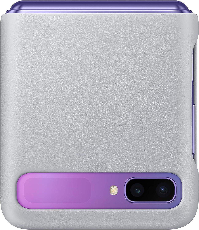 Samsung Ef Vf700 Leather Cover For Galaxy Z Flip Silver Elektronik