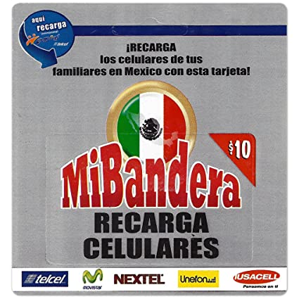 Amazon.com: $10 Mi Bandera Mexico Cellular Refill Card ...