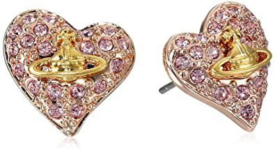 43595c9e4 Vivienne Westwood Tiny Diamante Heart Stud Earrings: Amazon.co.uk: Jewellery