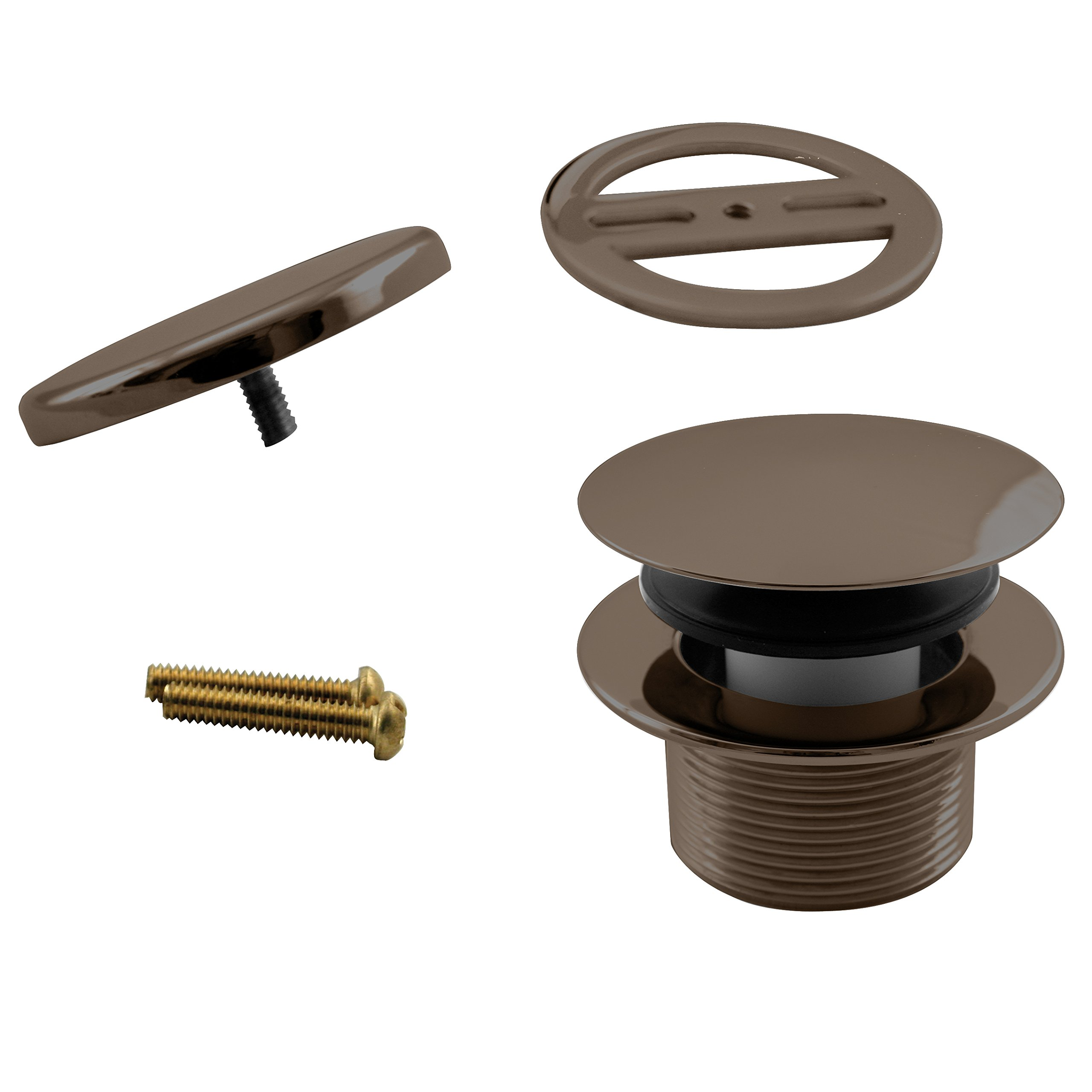 Westbrass Mushroom Tip-Toe Tub Trim Set with Floating Faceplate, Oil Rubbed Bronze, D398RK-12