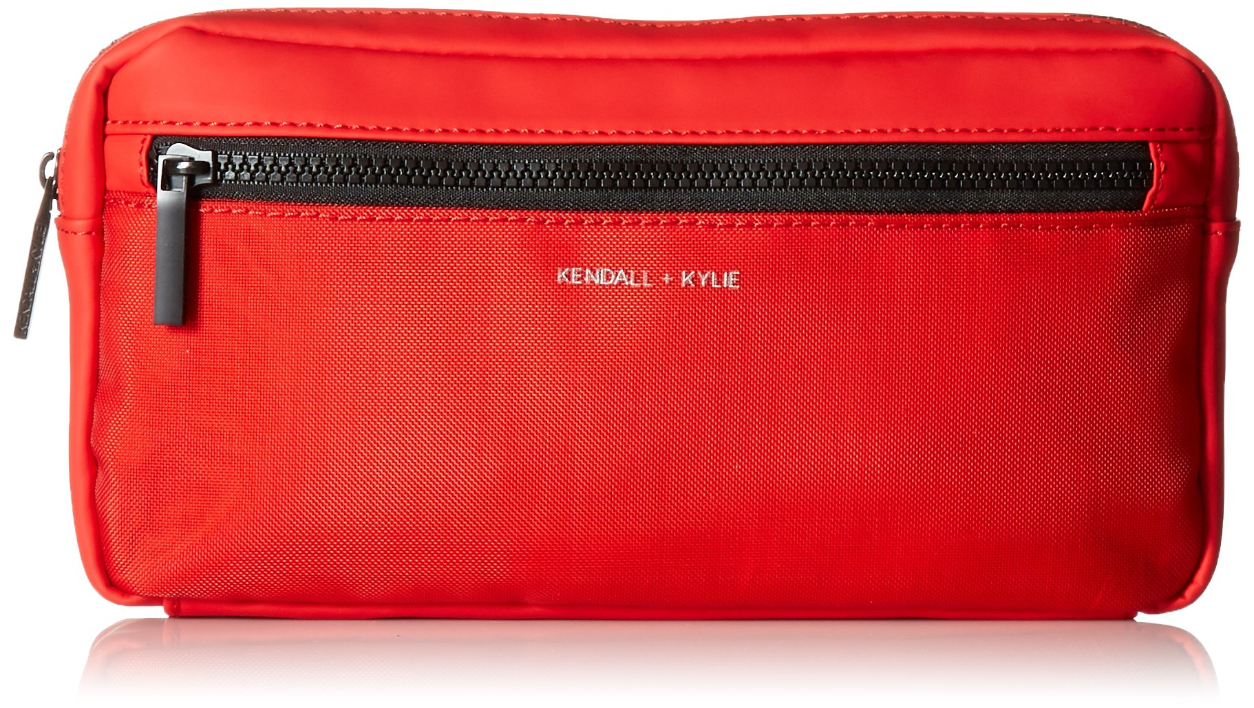 KENDALL + KYLIE Olympia-Red Nylon, Red Nylon Mesh