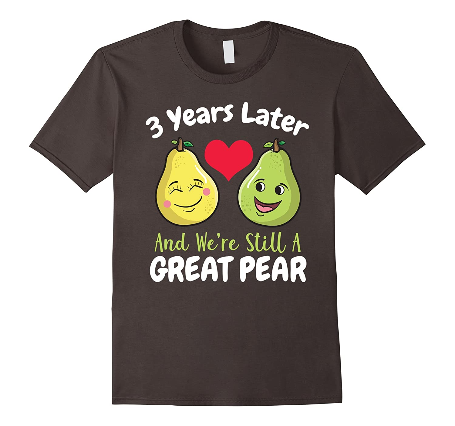 3rd Year Wedding Anniversary T-Shirt Gift For Her Him Couple