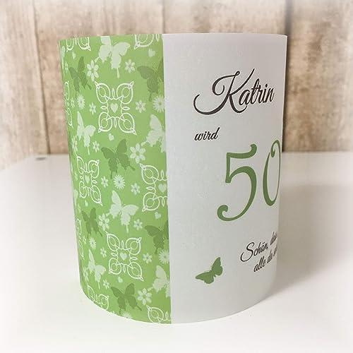 4er Set Tischlicht Tischlichter Schmetterlinge Runder Geburtstag 40