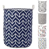 HOKIPO® Folding Laundry Basket for Clothes, Round Collapsible Storage Basket - Large 43 LTR (AR2537)