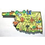 Oklahoma the Sooner State Artwood Jumbo Fridge Magnet