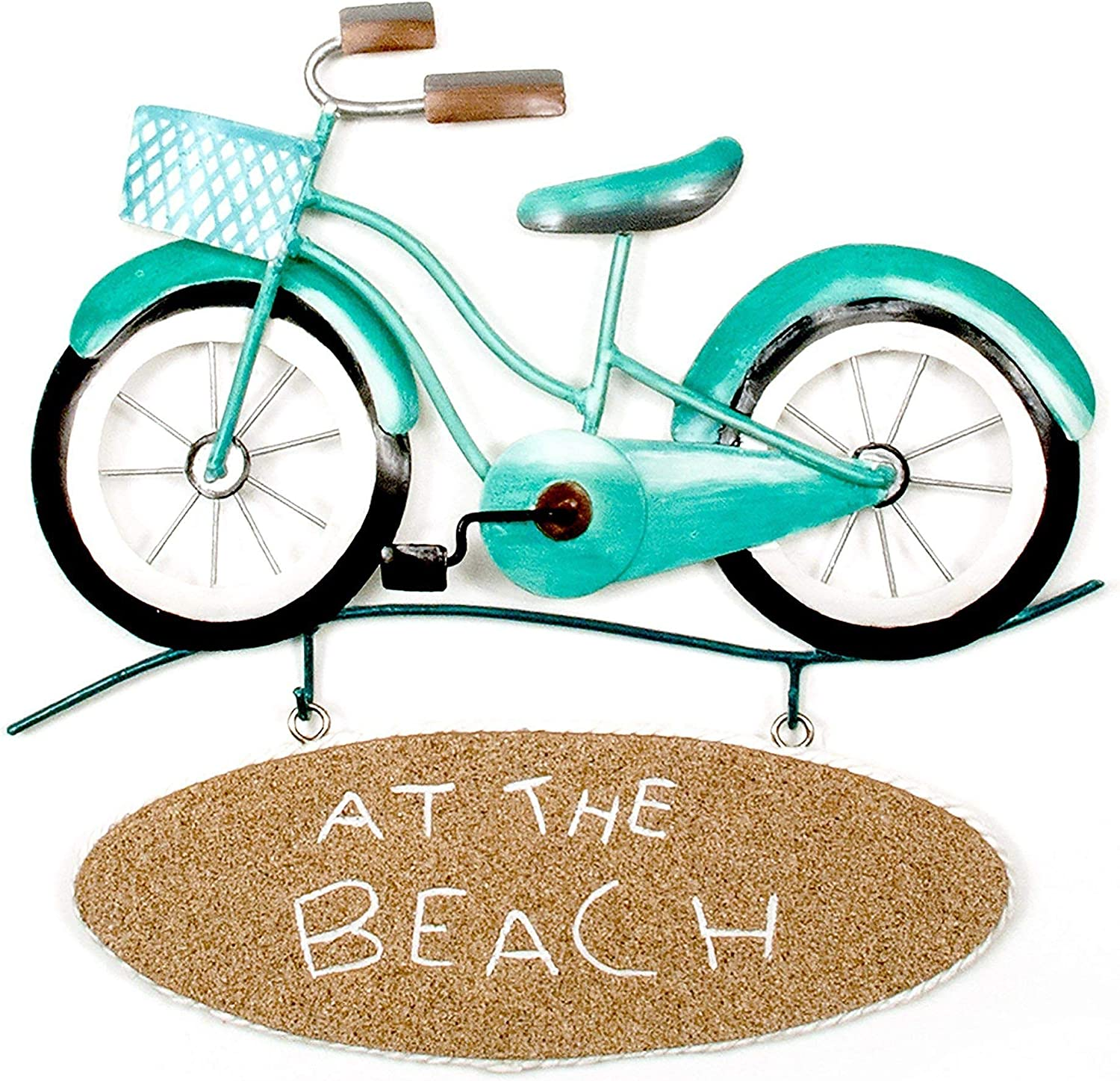 T.I. Design Metal at The Beach Bike Wall Art One Size Blue/Brown