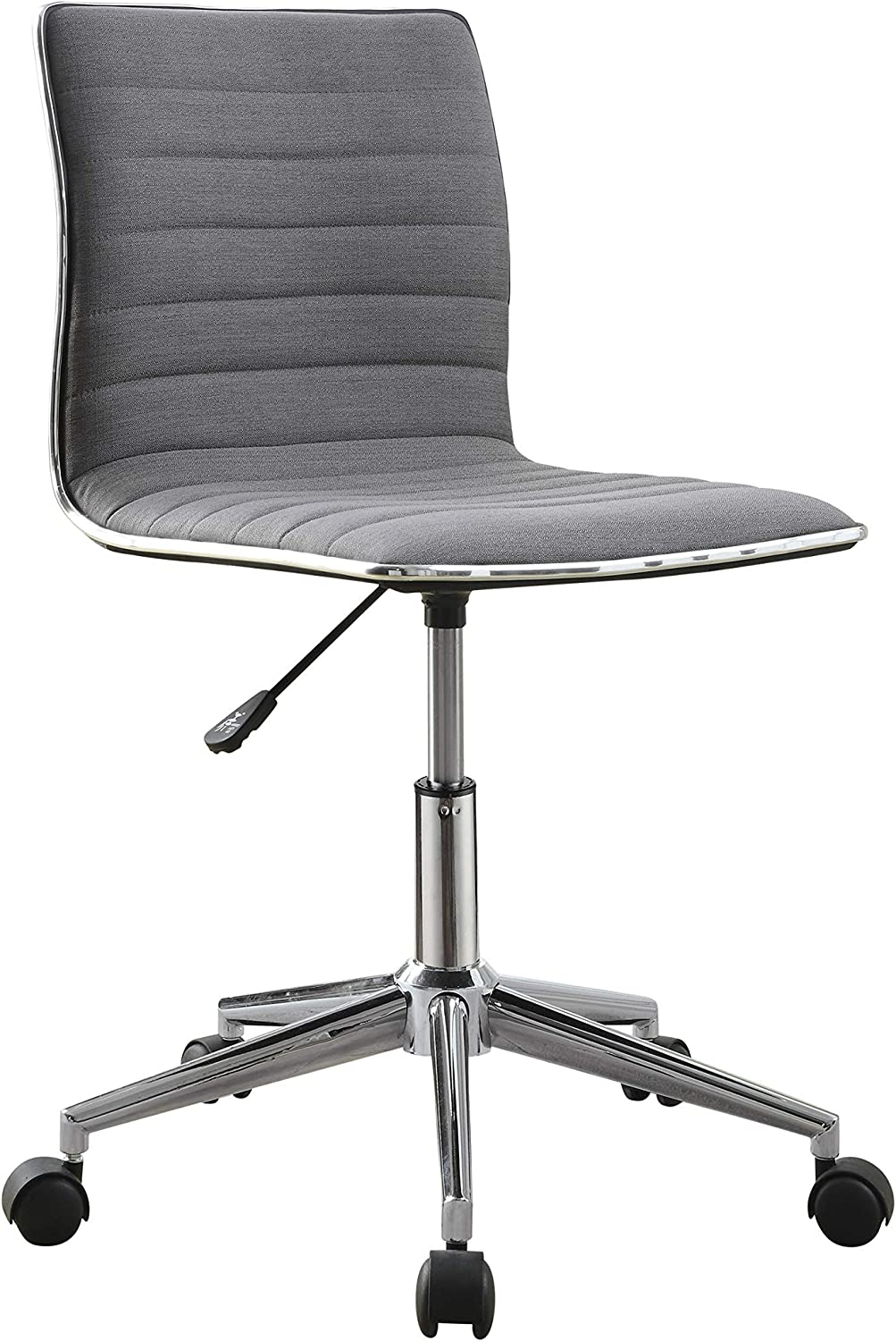 Coaster Home Furnishings Adjustable Height Office Chair Grey and Chrome