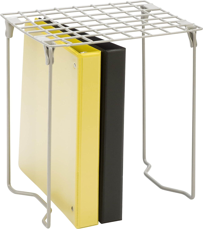 Honey-Can-Do BTS-06607 Freestanding Folding Steel Locker Shelf, Silver, 11L x 9.25W x 12.75H