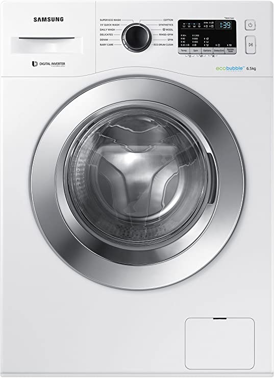 Samsung 6.5 kg Fully-Automatic Front Loading Washing Machine (WW65M224K0W/TL, White) Washing Machines & Dryers at amazon