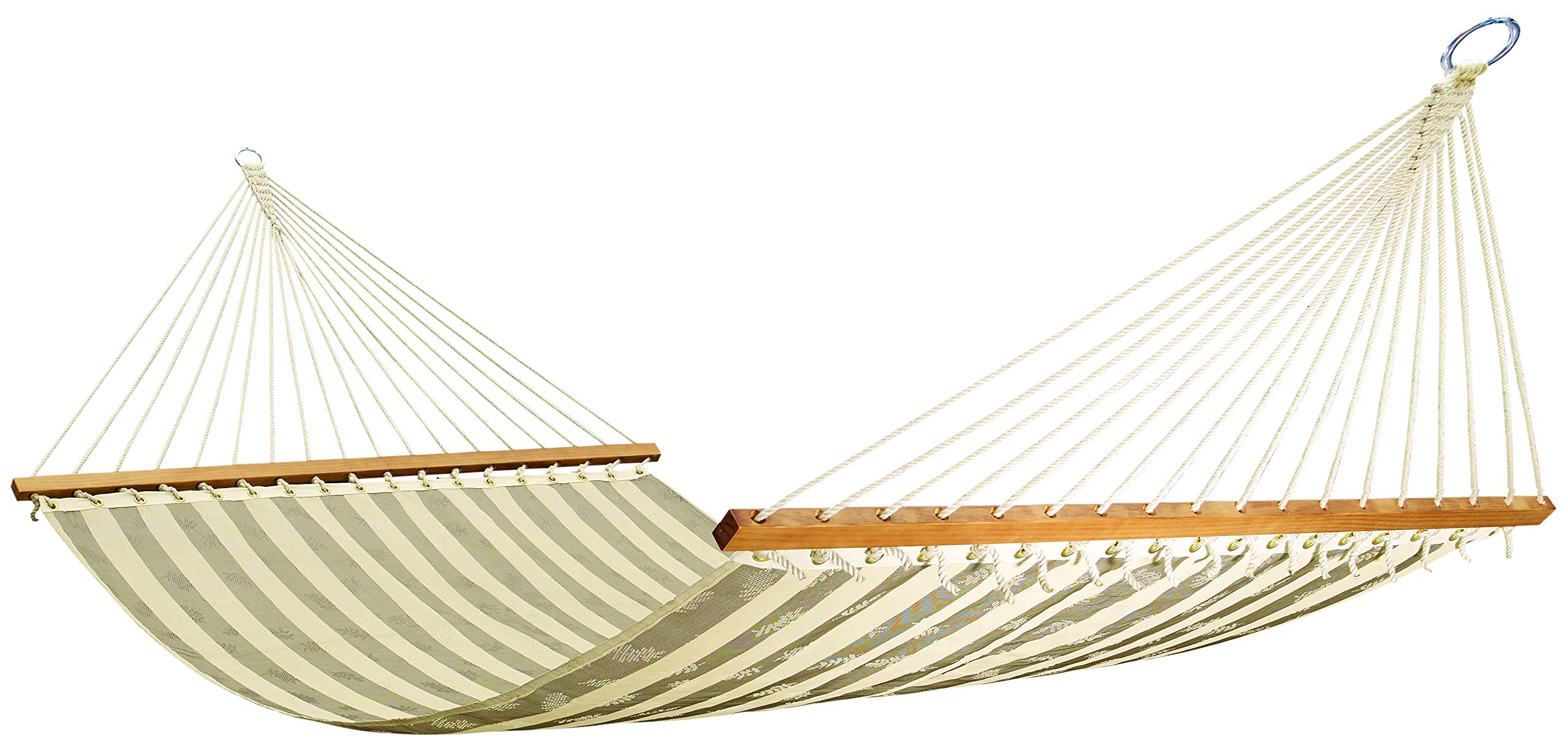Hygge - Poolside Textilene Fabric Hammock Comes with Hardwood Spreader Bars. Quick-Dry and Suits a Two Adults. Perfect for Your Garden, Patio and Beach!