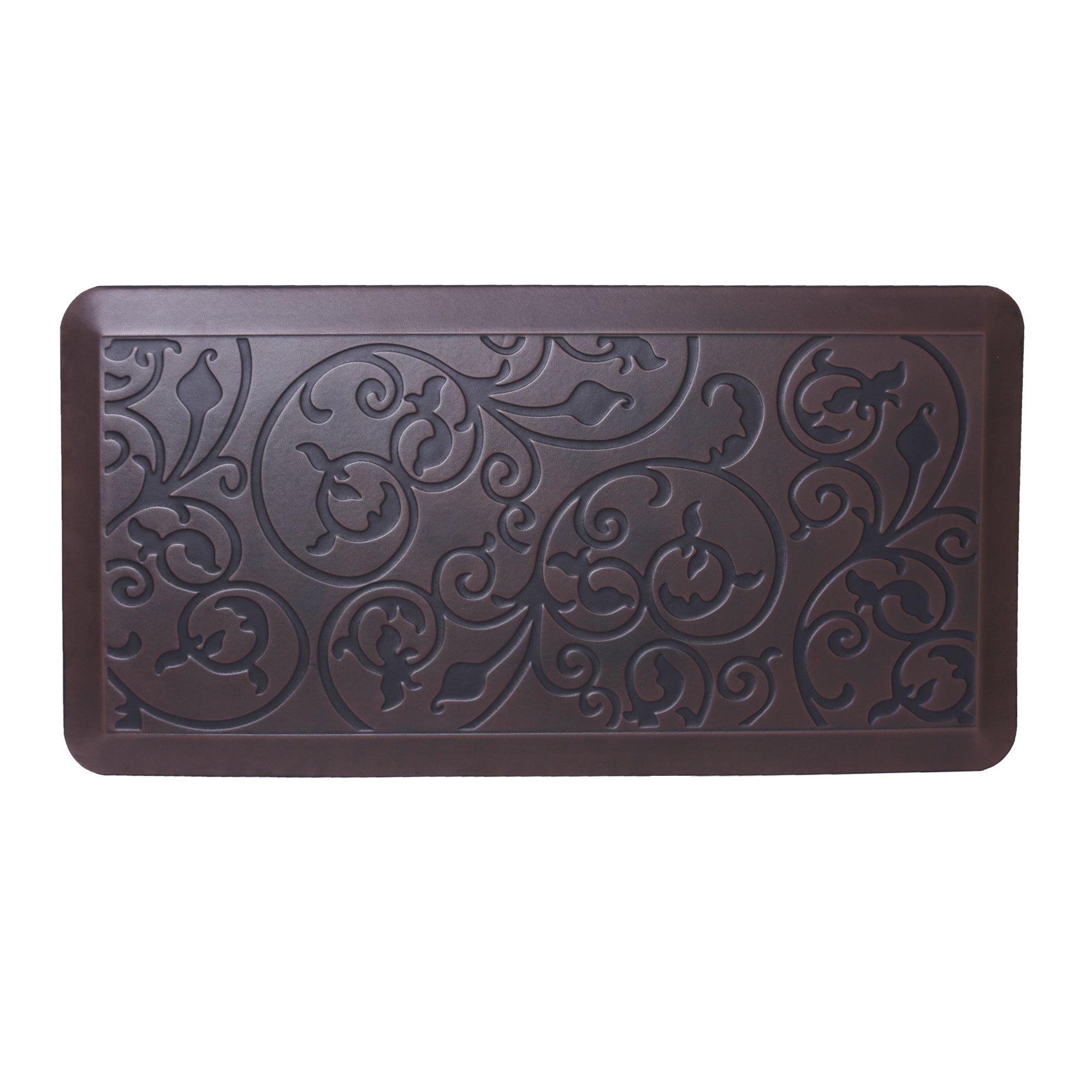 AMCOMFY Kitchen Anti Fatigue Mat,Comfort Floor Mats,Standing Desk Mats,Antique Series (20''x39''x3/4'', Antique Dark)