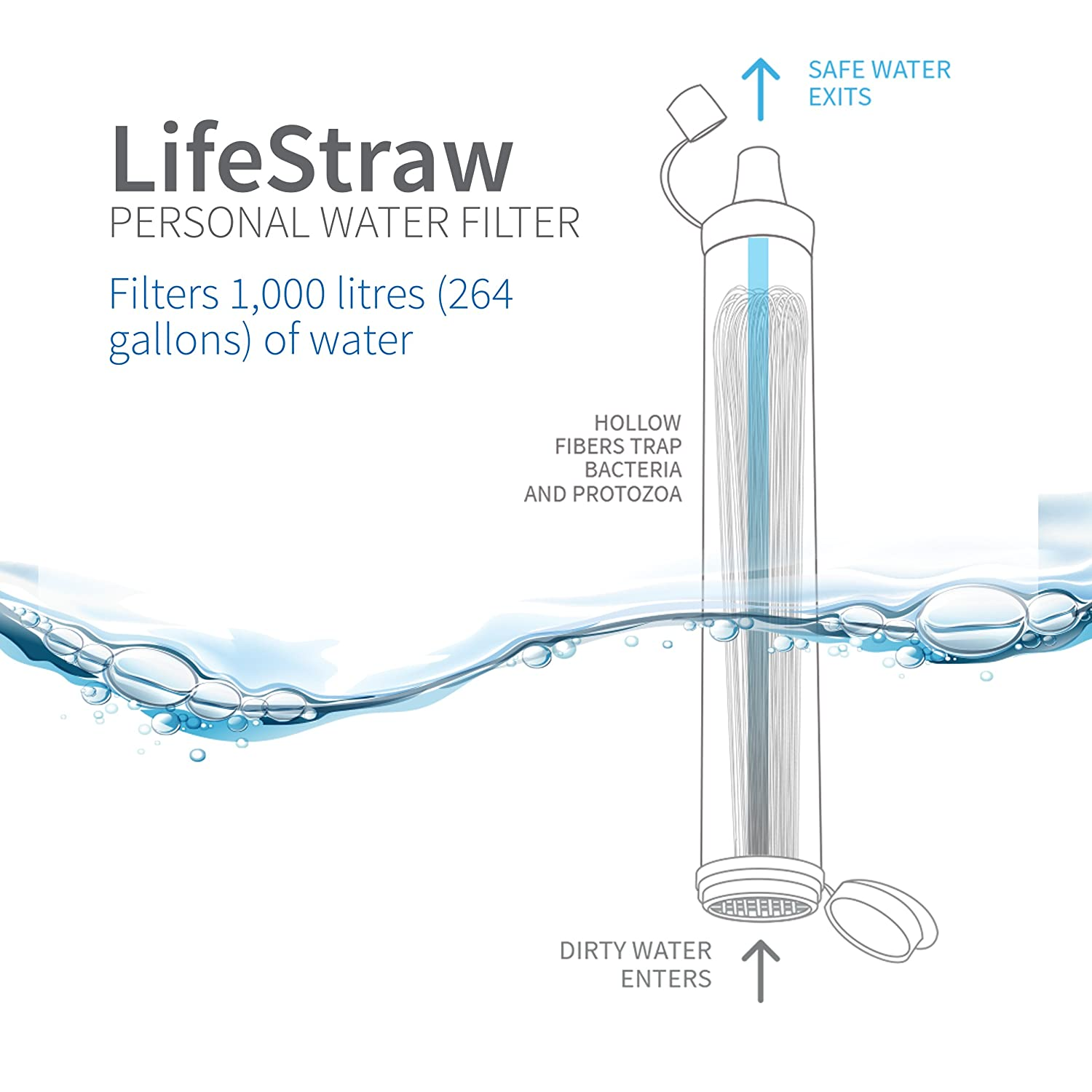 Amazon LifeStraw LSPHF017 Personal Water Filter for Hiking