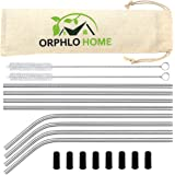 Premium Stainless Steel Metal Straws in 100% Recyclable Packaging, Dishwasher Safe Reusable Straws – Perfect for Hot Drinks, Cocktails and Juices