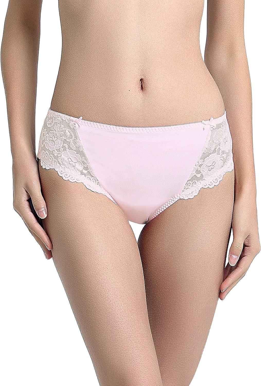 VANEVER - Bragas de encaje para mujer, súper suaves, altas piernas, calzoncillos de microfibra de cintura media: Amazon.es: Ropa y accesorios