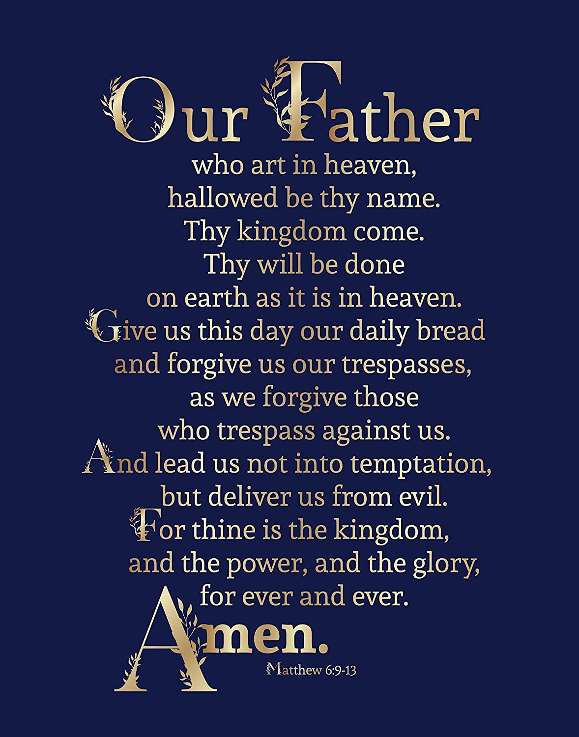 Bible | The Lord's Prayer | Unframed 11 x 14 Print | Perfect Gift under $15.00 | Christian Wall Decor