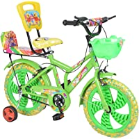 City Star Baby Bicycle 16 Inches Green & Yellow Bike For 6-9 Years