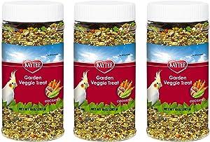 Kaytee 3 Pack of Garden Veggie Cockatiel Treats, 10 Ounces Each