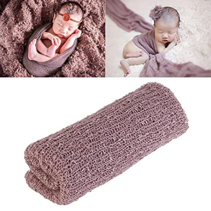 Tinksky long ripple wrap diy newborn baby photography wrap baby photo props lilac