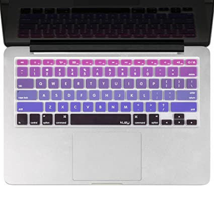 Kuzy - Purple Ombre Colors Keyboard Cover Silicone Skin for MacBook ...