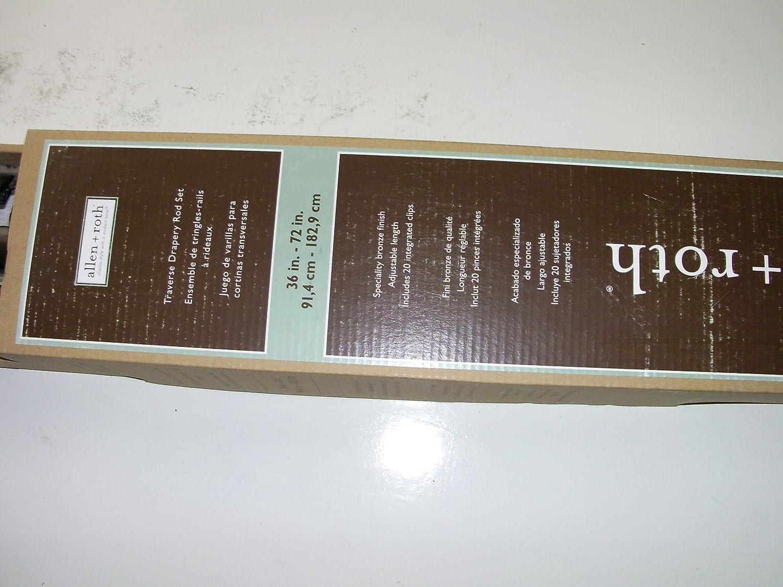 Amazon.com: allen + roth 36-in to 72-in Warm Bronze Metal Traverse Rod Item# 366478 Model#28580YWBRNZ UPC# 680656134801: Home & Kitchen