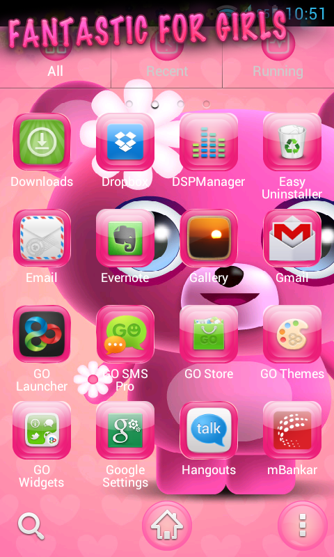 Amazon com: Cute Pink Go Launcher Theme: Appstore for Android